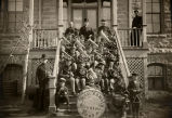 Holy Family Boys Band during bishop's visit, 1904? - 1925?