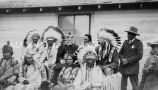 Bishop George J. Finnigan, C.S.C., and Sisika elders, 1928